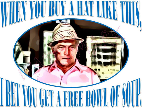 Caddyshack: Ugly Hat, Bowl of Soup https://www.mondomonsterwear.com/products/caddyshack-ugly-hat-bowl-of-soup Caddyshack. Golf. Ted Knight. Ted. Knight. Chevy Chase. Chevy. Chase. Bushwood. Judge Smails. Smails. Movie. Rodney Dangerfield. Shirt. Hat, Free bowl of soup