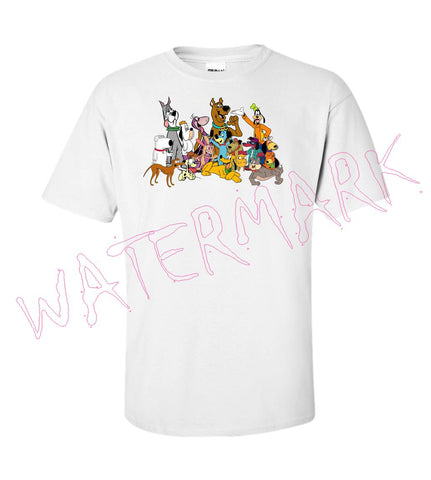 Cartoon Dogs https://www.mondomonsterwear.com/products/cartoon-dogs Cartoons, Dogs, Brian Griffin, Family Guy, Santa's Little helper, The Simpsons, Dino, The Flintstones, Scooby Doo, Droopy, Spike, Odie, Garfield, Animation shirt.