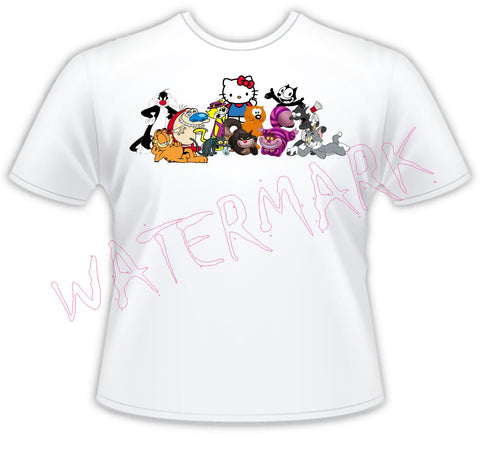 Cartoon Cats https://www.mondomonsterwear.com/products/cartoon-cats Cartoons, Cats, Itchy and Scratchy, The Simpsons, Felix The Cat, Garfield, Animation, Tom & Jerry, Garfield, Stimpy, Heathcliff, Sylvester, Snowball, Garfield, shirt.