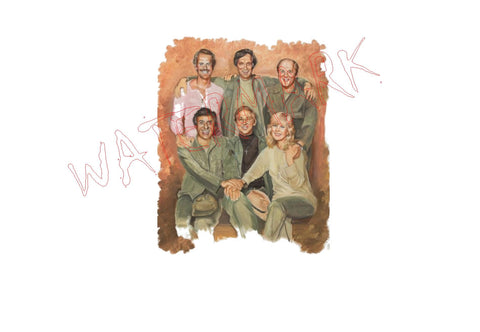 MASH: Cast Portrait https://www.mondomonsterwear.com/products/mash-cast-portrait M*A*S*H. Ferret Face. Frank Burns. MASH. KOREA. War. Sitcom. Shirt. 4077. Surgery. Trapper. Hawkeye. mobile army sugical hospital. BJ Honeycutt. Charles Emerson Wincester III. Radar. Klinger. Hot Lips.