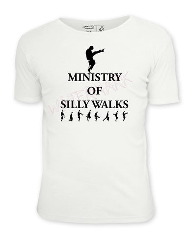 Monty Python: Ministry of Silly Walks  https://www.mondomonsterwear.com/products/monty-python-ministry-of-silly-walks-1  Shirt. Tee Shirt. Monty Python. Shirt. Ministry of Silly Walks. Holy Grail. Monty Python's Flying Circus. john cleese.