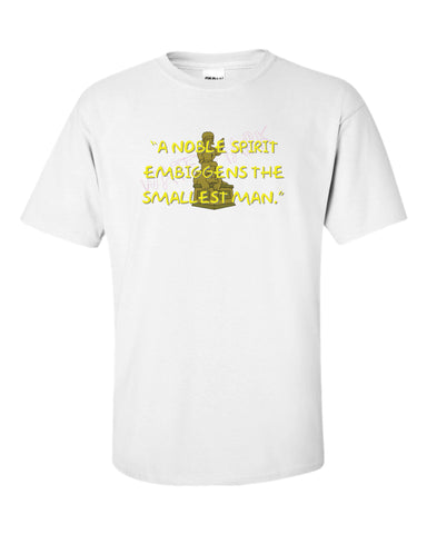 The Simpsons: Jebediah Springfield Embeggins  https://www.mondomonsterwear.com/products/the-simpsons-jebediah-springfield-embeggins  Moe's Tavern. Bar. The Simpsons. Homer, Marge, Bart. Shirt. Tshirt. Springfield. Jebediah Springfield. A Noble Spirit Embeggins.