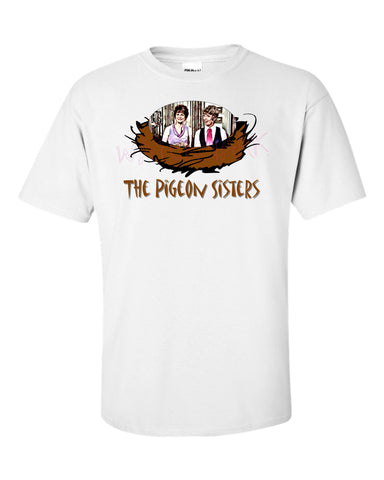 Odd Couple: Pigeon Sisters  https://www.mondomonsterwear.com/products/odd-couple-pigeon-sisters  Gwendolyn Pigeon, sisters. Neil Simon. Felix Unger. Oscar Madison. Roommate. The Odd Couple. Shirt. Jack Klugman. Tony Randall., Cecily