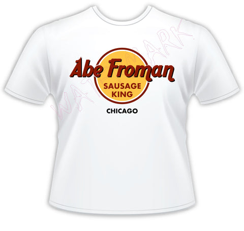 Ferris Bueller: Abe Froman  https://www.mondomonsterwear.com/products/ferris-bueller-abe-froman  Ferris Bueller's Day Off . Matthew Broderick. Shirt. Save Ferris. Abe Froman. Sausage King of Chicago