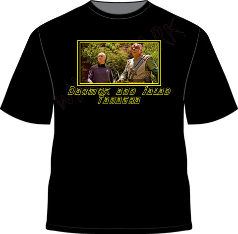 Star Trek: Darmok  https://www.mondomonsterwear.com/products/star-trek-darmok  Star Trek. Ship. Enterprise. Picard. Worf. Michael Dorn. Klingon. Federation. Darmok. Jalad. Tanagra