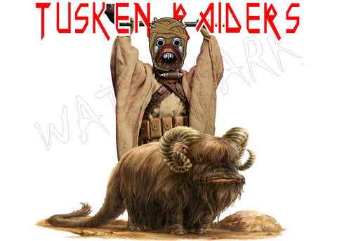 Star Wars: Iron Maiden Tusken Raiders  https://www.mondomonsterwear.com/products/star-wars-iron-maiden-tusken-raiders  Star Wars. Revenge of the Sith. I am the senate. Darth Plagueis. Shirt. Tusken Raider. Iron Maiden. Eddie