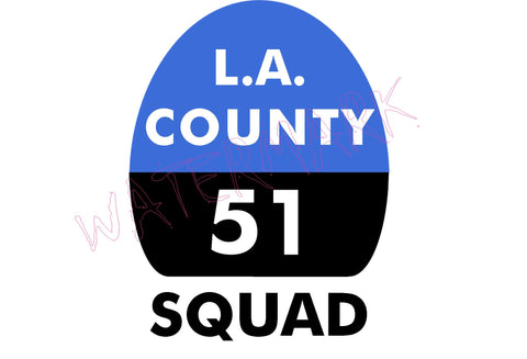 Emergency: Los Angeles County Squad 51  https://www.mondomonsterwear.com/products/emergency-los-angeles-county-squad-51  Shirt, Emergency, Emergency One, Roy DeSoto, Jonny Gage, Randolph Mantooth, Paramedic, Squad 51, Fire Department, Emergency Medical Technician, Rampart Hospital
