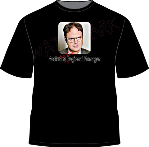 The Office: Dwight Shrute  https://www.mondomonsterwear.com/products/the-office-dwight-shrute  That's What She Said. The Office. Scranton. Dunder Mifflin. Paper. Michael Scott. Dwight Schrute. The Office. Shirt. Creed. Assistant to the regional manager