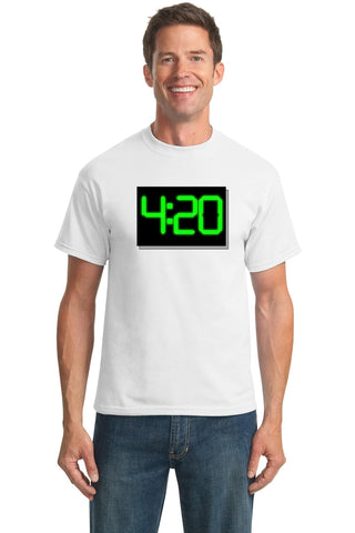 "It's 4:20 Somewhere (Digital) https://www.mondomonsterwear.com/products/4-20-digital Smokers of the world unite. State by state the ""medicinal"" qualities of the ""herb"" are being legalized. Hey, it's got to be 4:20 somewhere. Shirt. Weed. Herb. Marijuana. Pot."