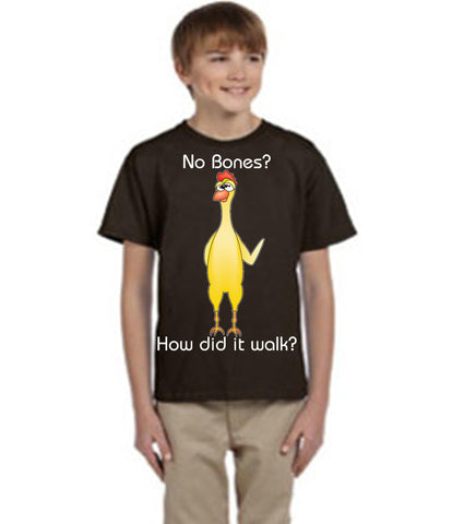 "Odd Couple: Chicken https://www.mondomonsterwear.com/products/odd-couple-chicken Oscar Madison saves Felix Unger's life, so he makes a special chicken dish for Oscar prompting the line ""No bones?!?! How did it walk?"" Shirt. The Odd Couple."