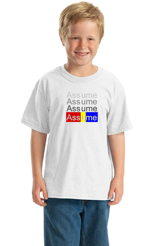 Odd Couple: Assume https://www.mondomonsterwear.com/products/odd-couple-assume Assume. You make an Ass out of You and Me. Felix. Unger. Oscar Madison. The Odd Couple. Shirt. Court. Ticket scalping. testimony.