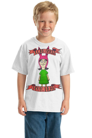 "Bob's Burgers: The Philosophy of Louise https://www.mondomonsterwear.com/products/the-philosophy-of-louise To be sure one of the smartest people on the planet is Louise from ""Bob's Burgers"". Shirt. More art from Taylor Greene"
