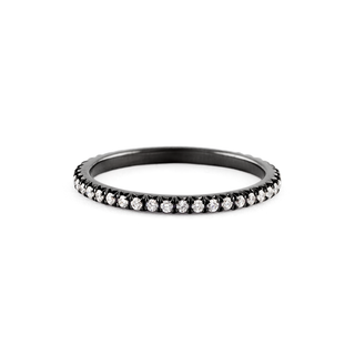 Jado Ebony -  Eternity Ring