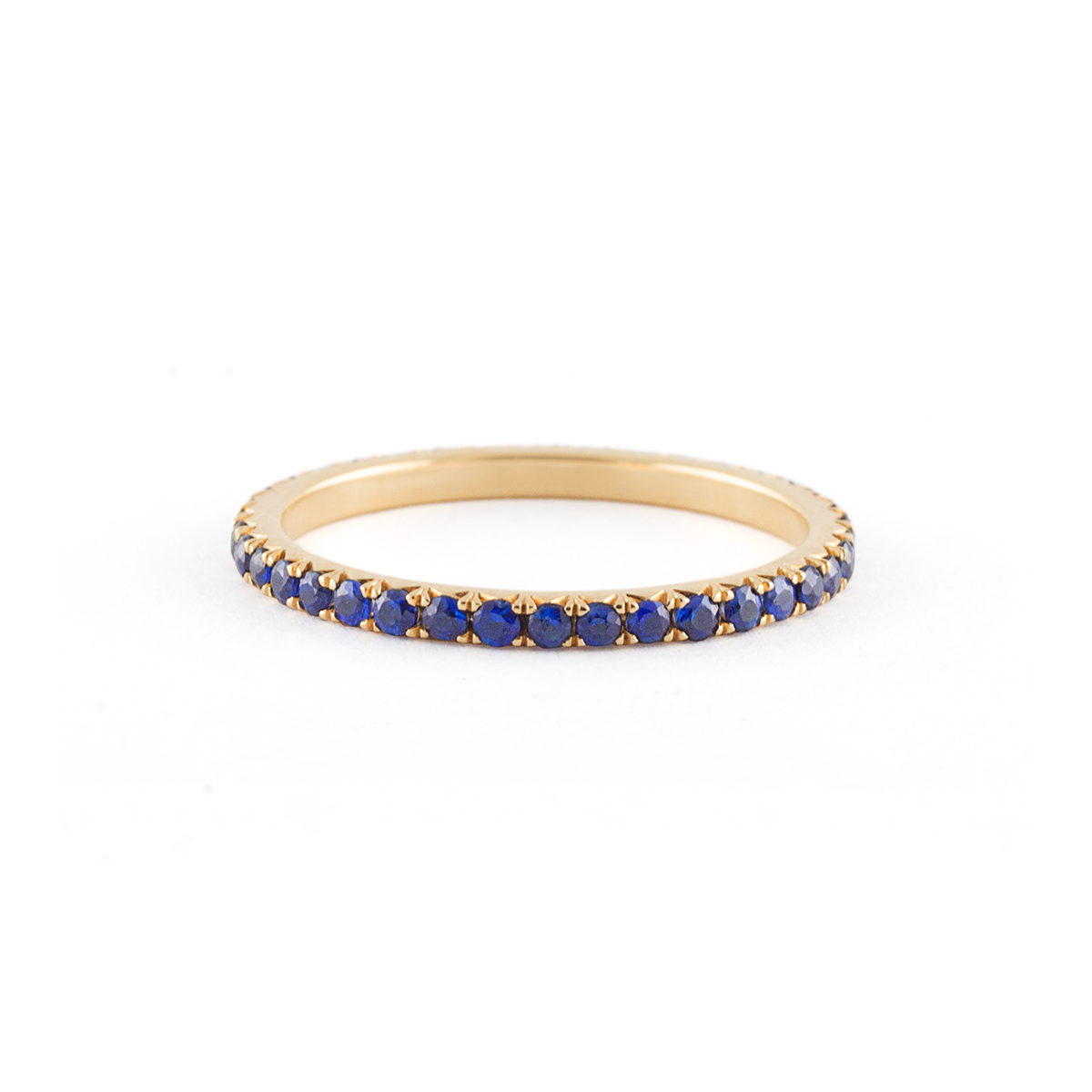 ring band large context gold half eternity diamond sapphire p and