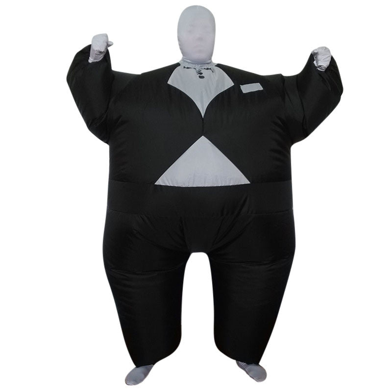 Adult Inflatable Black Tuxedo Fancy Suit Party Club Costume Jumpsuit Fat Catsuit  sc 1 st  mypartycart & Adult Inflatable Black Tuxedo Fancy Suit Party Club Costume Jumpsuit ...