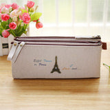 Large Vintage Tri-Fold Pencil Pouch - MIMO Pencil Case Shop  - 2