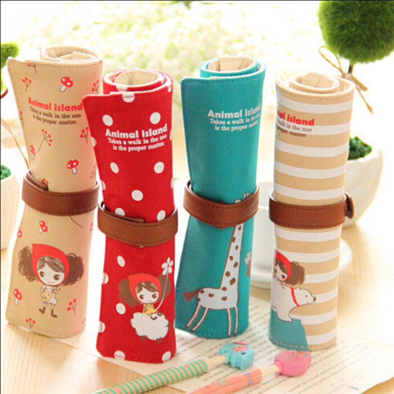 Slim Animal Island Roll-up Pencil Pouch - MIMO Pencil Case Shop  - 1