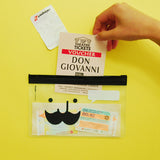 Clear Mustache Pencil Pouch - MIMO Pencil Case Shop  - 1