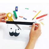 Clear Mustache Pencil Pouch - MIMO Pencil Case Shop  - 2