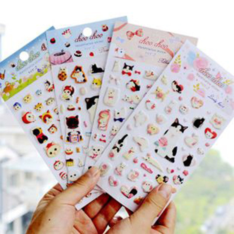 Kawaii Choo-Choo Cat Bubble Stickers