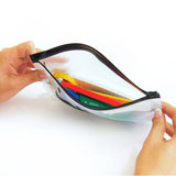 Clear Mustache Pencil Pouch - MIMO Pencil Case Shop  - 3