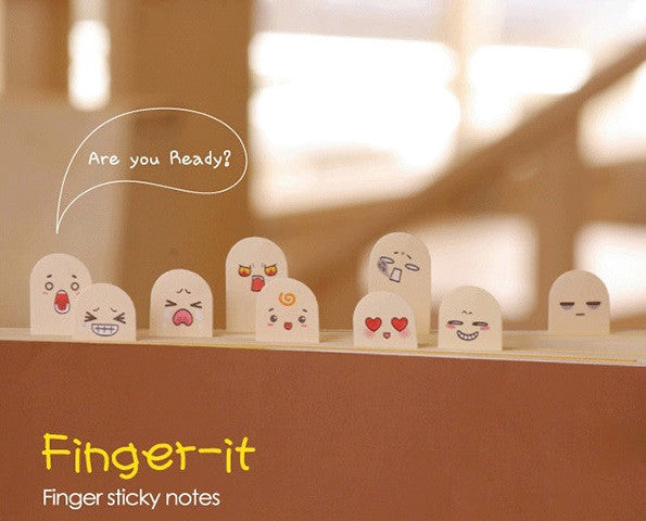 Finger-It Animated Face Post-its