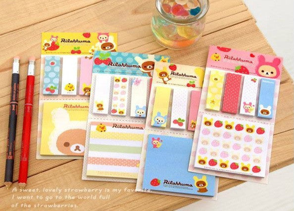 Rilakkuma Sticky Note Set