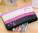 Double Zipper Cat Pencil Case - MIMO Pencil Case Shop  - 3