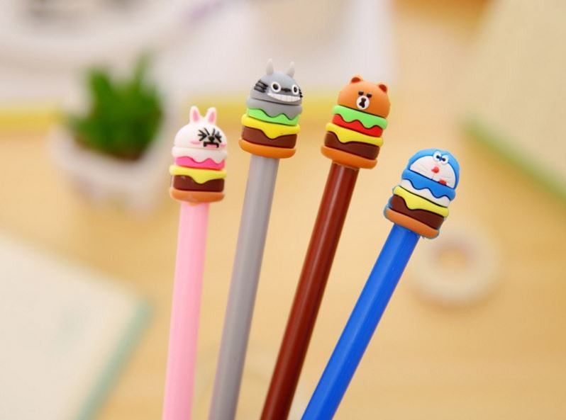 Character Hamburger Fine Tip Pens - MIMO Pencil Case Shop  - 1