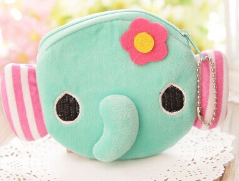Kawaii Elephant Plush Coin Purse