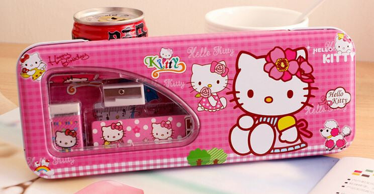 Hello Kitty 5 in 1 Metal Pencil Case Set