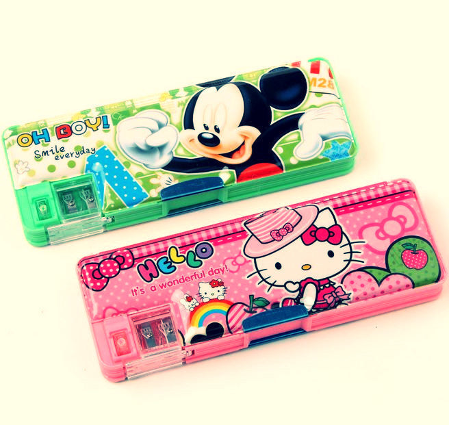 Magnetic Double Door Pencil Case with Sharpener - MIMO Pencil Case Shop  - 1