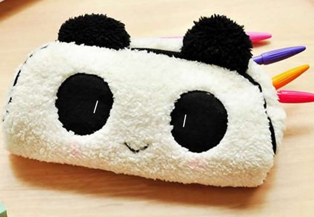Plush Panda Pouch/ Cosmetic Bag - MIMO Pencil Case Shop  - 1