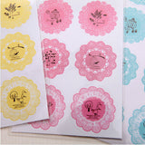 Lace Round Stickers - MIMO Pencil Case Shop  - 5