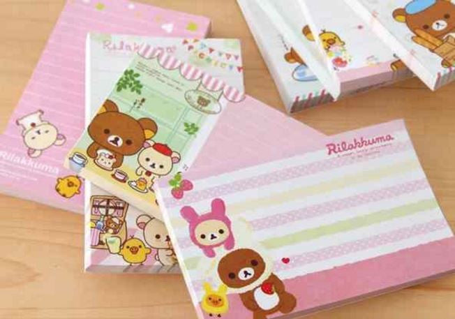 Colorful Rilakkuma Notepad - MIMO Pencil Case Shop  - 1