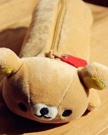 Rilakkuma Plush Pencil Pouch - MIMO Pencil Case Shop  - 1