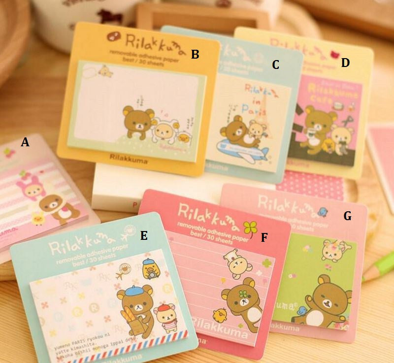 Rilakkuma Single Sticky Notepad - MIMO Pencil Case Shop  - 1