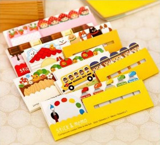 Kawaii Stick & Memo Specialty Post-it Pad