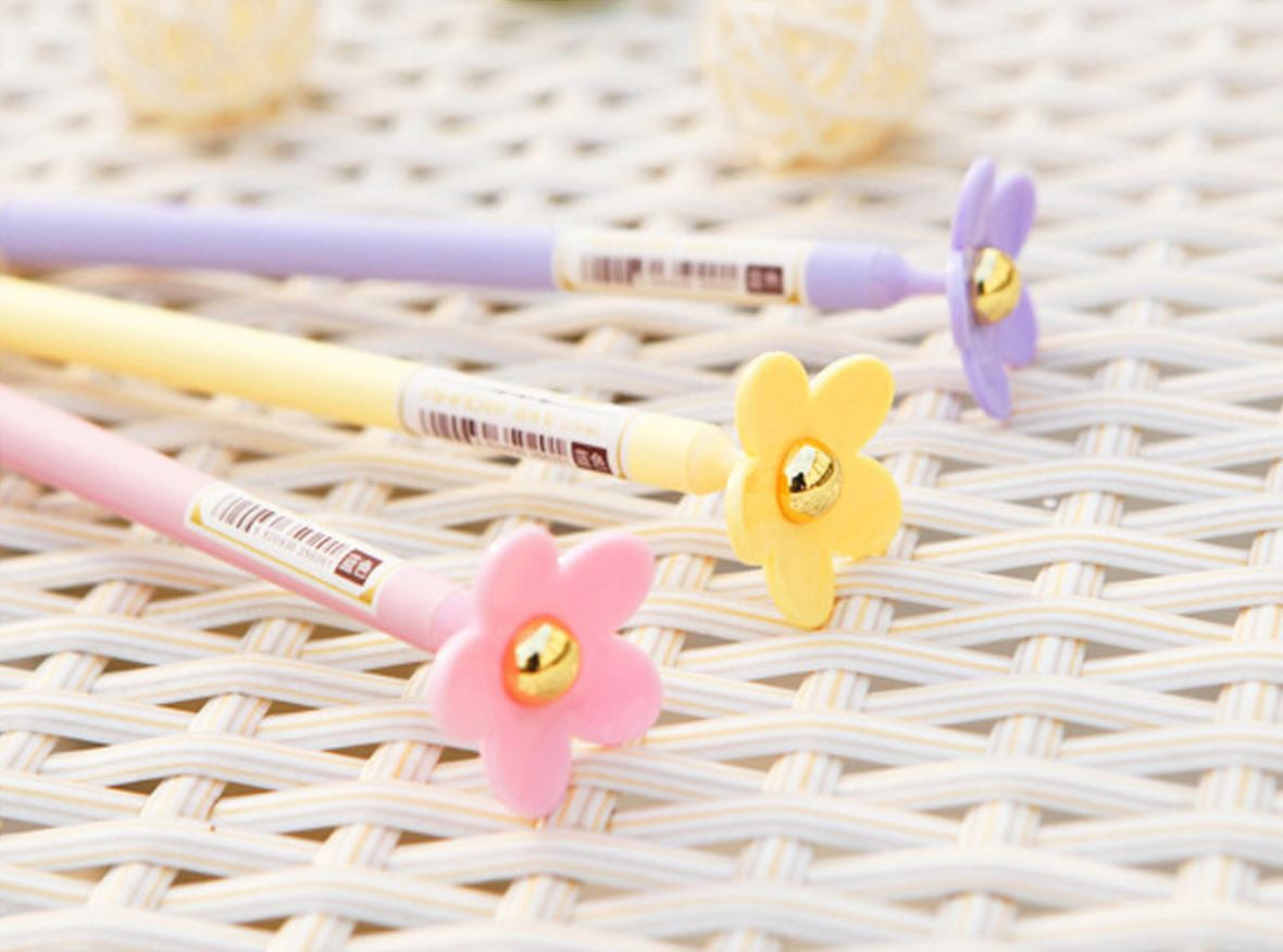 Flower Gel Pen - MIMO Pencil Case Shop  - 1
