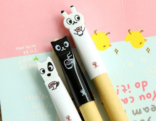 Coffee & Animal Pen - MIMO Pencil Case Shop  - 1