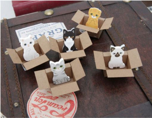 DIY Kitty Cat in Box Sticky Notes - MIMO Pencil Case Shop  - 1