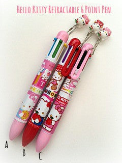 Hello Kitty Retractable 6 Point Pen