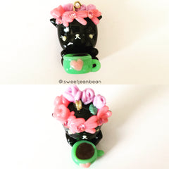 Kitty Coffee Charm