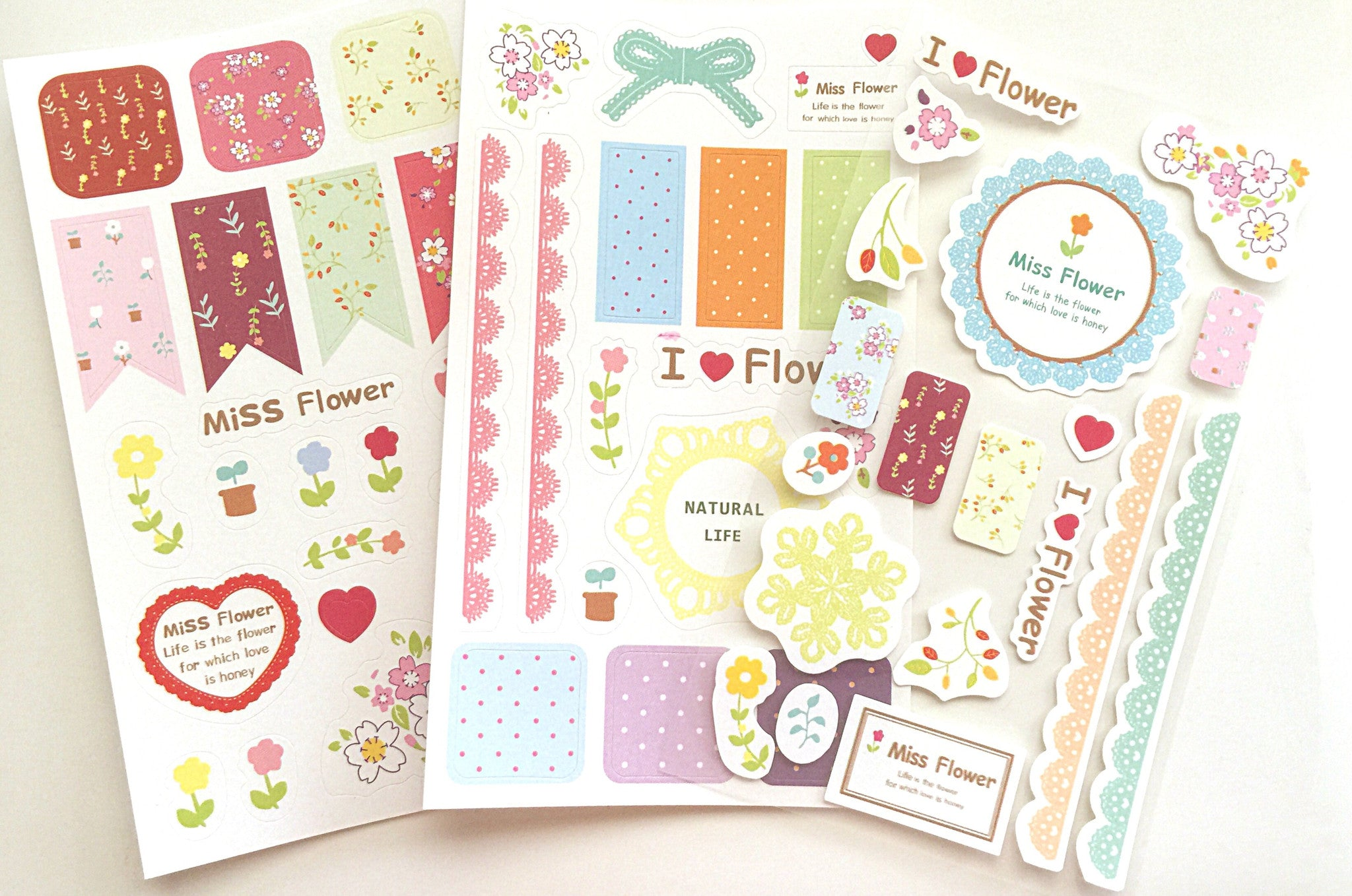 Miss Flower Planner Sticker Set - MIMO Pencil Case Shop  - 1