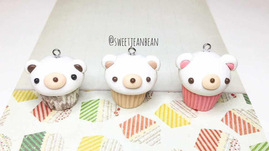 Beary Sweet Cupcake Charms