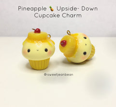 Pineapple Upside Down Cupcake Charm