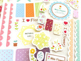 Miss Flower Planner Sticker Set - MIMO Pencil Case Shop  - 3