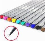 Set of 10 Fine Line Marker Pens - MIMO Pencil Case Shop  - 1