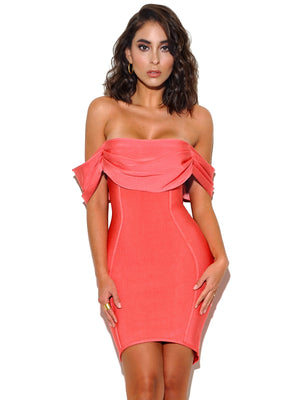 Dreamer Coral Bandage Dress