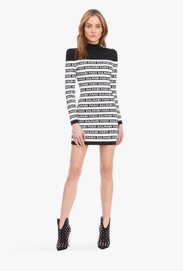B Logo Mini Dress
